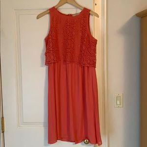 Peach dress from Ann Taylor Loft